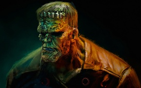 Picture monster, horror, Frankenstein, The Modern Prometheus