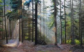 "Picture oil, picture, canvas, the artist S. Lutsenko, ""the Forgotten trails"""