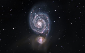 Picture Galaxy, The Dogs Of War, Whirlpool, in the constellation, M51