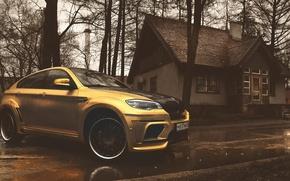 Picture BMW, X6M, yellow matte chrome, hamann tycoon evo m