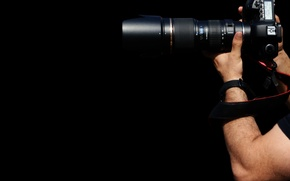 Picture photographer, zoom, lenses, accessories, arms, photo camera