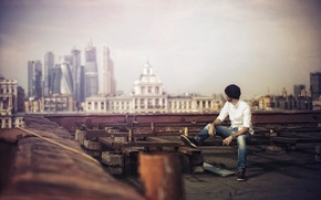 Picture roof, the city, photographer, Karen Abramyan
