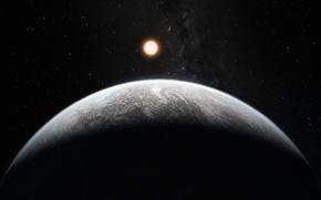 Picture star, sun, planet, gray