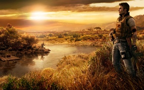Picture sunset, hero, Far Cry 2