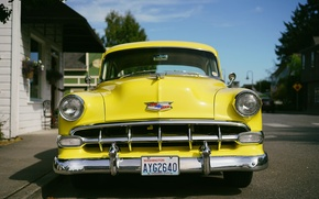 Picture yellow, retro, Chevrolet, the front