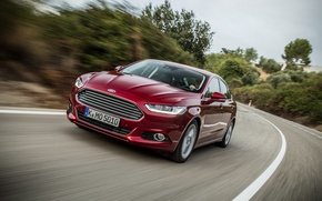 Picture Ford, red, hatchback, mondeo