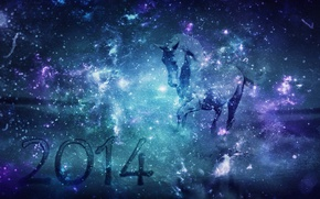 Picture space, horse, new year, space, new year, horse