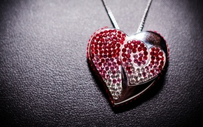 Picture pendant, decoration, heart, heart, jewelry, during
