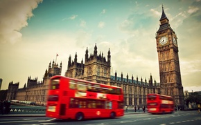 Picture England, London, London, England, Big Ben, Westminster Abbey, red bus