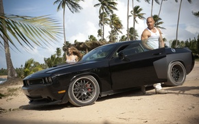 Picture the film, Wallpaper, Dodge, Challenger, wallpapers, VIN diesel, Fast and furious 5, SRT, VIN DIESEL
