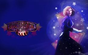 Picture stars, blue, Bioshock infinite, Elizabeth