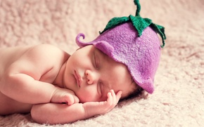 Picture sleep, bell, child, cap, baby