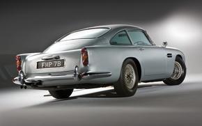 Picture grey, Aston Martin, classic, 1964, DB5