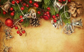 Picture balls, decoration, holiday, toys, tree, branch, New Year, Christmas, Christmas, New Year, Christmas