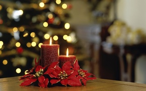 Wallpaper flame, holiday, new year, candle, light