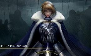 Picture girl, anime, art, knight, Fate/Stay Night, Artoria Pendragon
