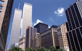 Picture the city, building, skyscrapers, new York, skyscrapers, new-york