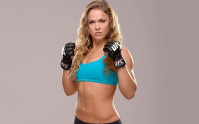 Picture look, pose, figure, piercing, actress, gloves, stand, hair, UFC, Ronda Rousey, MMA fighter, Rhonda Rauzi, …
