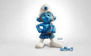 Picture animation, background, cartoon, movie, the smurfs 2, scotsman smurf, gutsy