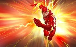 Picture superhero, comics, Flash