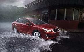 Picture rain, Subaru, Impreza, Subaru, Impreza