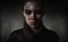 Picture woman, art, realism, face