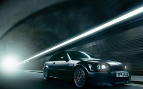 Picture BMW, BMW, the tunnel, E46, Jun Dang