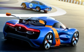 Picture Concept, the concept, Renault, Reno, rear view, racing track, Alpine, Alpine, A110-50