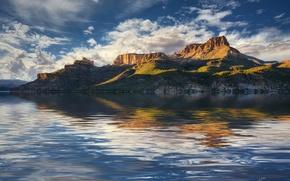 Picture lake, reflection, AZ, USA, D. Apache