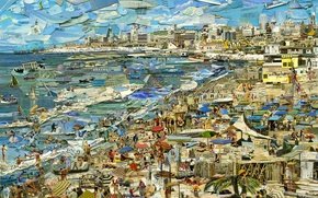 Picture The Beach, Vik Muniz, Postcards from Nowhere, contemporary art