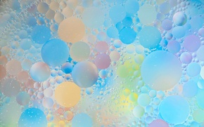 Picture water, bubbles, abstraction, paint, oil, the air
