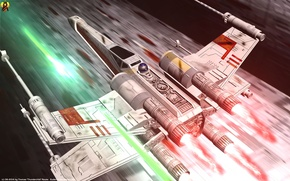 Picture Star Wars, X-wing, A New Hope, Episode IV