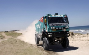 Picture Sport, Machine, Truck, Race, Day, Lights, Cabin, Rally, Dakar, Rally, The front, Iveco