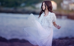 Picture dress, girl, Dreams