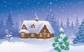 Picture snow, snow, Merry Christmas, Merry Christmas, new year, winter house, winter home, new year, Christmas …