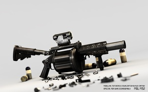 Picture weapons, grenade launcher, cartridges, manual, Milkor mgl, mgl m32
