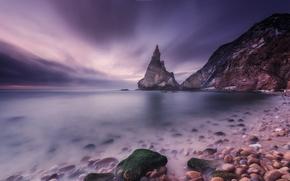 Picture sea, stones, rocks, coast