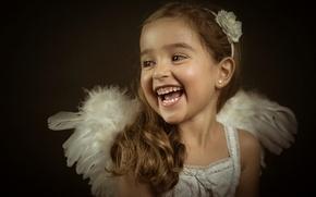 Picture portrait, laughter, girl, Lidia, Little Angels