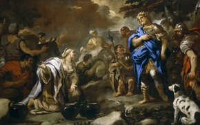 Picture picture, mythology, The Wisdom Of Abigail, Luca Giordano