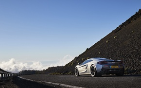 Picture road, car, machine, the sky, McLaren, road, sky, back, 570GT