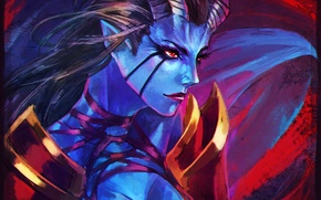 Picture girl, face, art, dota, dota 2, akasha, queen of pain