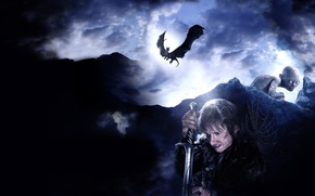 Picture the film, dragon, web, sword, Gollum, Could, movie, dragon, Gollum, film, The hobbit, The Hobbit, ...