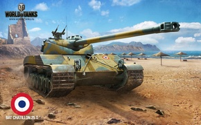 Picture Tank, World of Tanks, BAT CHATILLON 25 T, games Wallpapers for your desktop