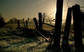 Wallpaper landscape, the fence