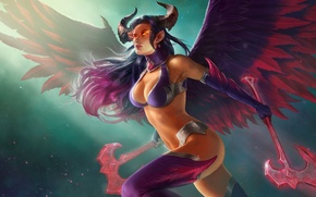 Picture the game, wings, demoness, Juggernaut Wars, Demoness Lishet