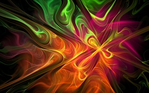 Picture light, pattern, smoke, color, gas, fractal