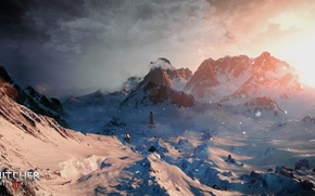 Picture winter, snow, mountains, art, The Witcher, CD Projekt RED, The Witcher 3: Wild Hunt