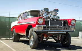 Picture engine, Chevrolet, Chevy, the front, 1956