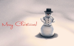 Wallpaper cold, winter, snow, holiday, new year, snowman, new year, holiday, snowman