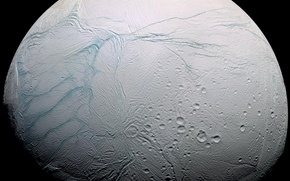 Wallpaper planet, satellite, Enceladus
